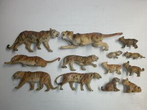 Konvolut-13-alte-Hausser-Elastolin-Lineol-Massefiguren-Massetiere-Tiger