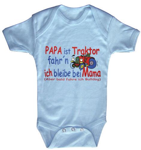 Baby Body Papa ist Traktor fahren Bulldog Bodys 0-24 Monate 08308