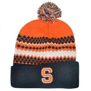 NCAA-Syracuse-Orange-Pom-Pom-Toque-Cuffed-Knit-Beanie-Winter-Hat-Skully-Cuse