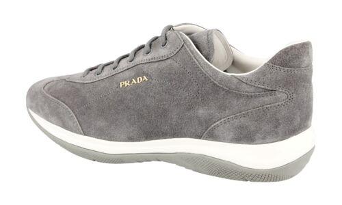41 Sneaker 5 Luxus Wildleder 41 Neu New 3e5793 Prada 8 Schuhe Uk Grau 8wwUv5