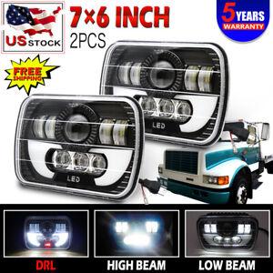2x nice LED Headlight For International 5900i 7300 7400 9200 9400 9900 8200 9300