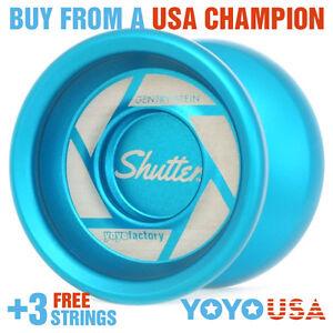 YoYoFactory Shutter Yo-Yo - Light Blue + FREE STRINGS