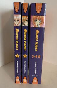Orange-Planet-Complete-Volumes-1-5-Manga-Graphic-Novel-Book-Lot-English