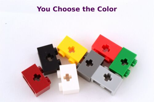 Lego 1x2 Technic Brick Axle Hole Black White Yellow Gray Green Red YOU CHOOSE