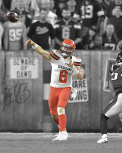 dd2418e5ac4 Image is loading Cleveland-Browns-BAKER-MAYFIELD-Glossy-8x10-Photo-NFL-