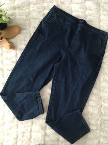 Talbots Womens Jeans Side Button Closure Size 14