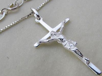 Genuine 925 Sterling Silver Crucifix / Cross Pendant / Necklace Mens / Ladies Gute QualitäT