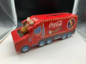 Coca-Cola-Truck-Truck-Cardboard-14-13-16in-Top-Condition