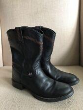 60ac031f4e8 Buy Women's Justin George Strait Black Calfy Lacer Roper Western ...