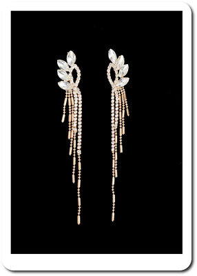 Xxl Ohrringe Chandelier 11cm Ohrhänger Ohrstecker Kristall Metall Goldfarbig NüTzlich FüR äTherisches Medulla Modeschmuck Ohrschmuck