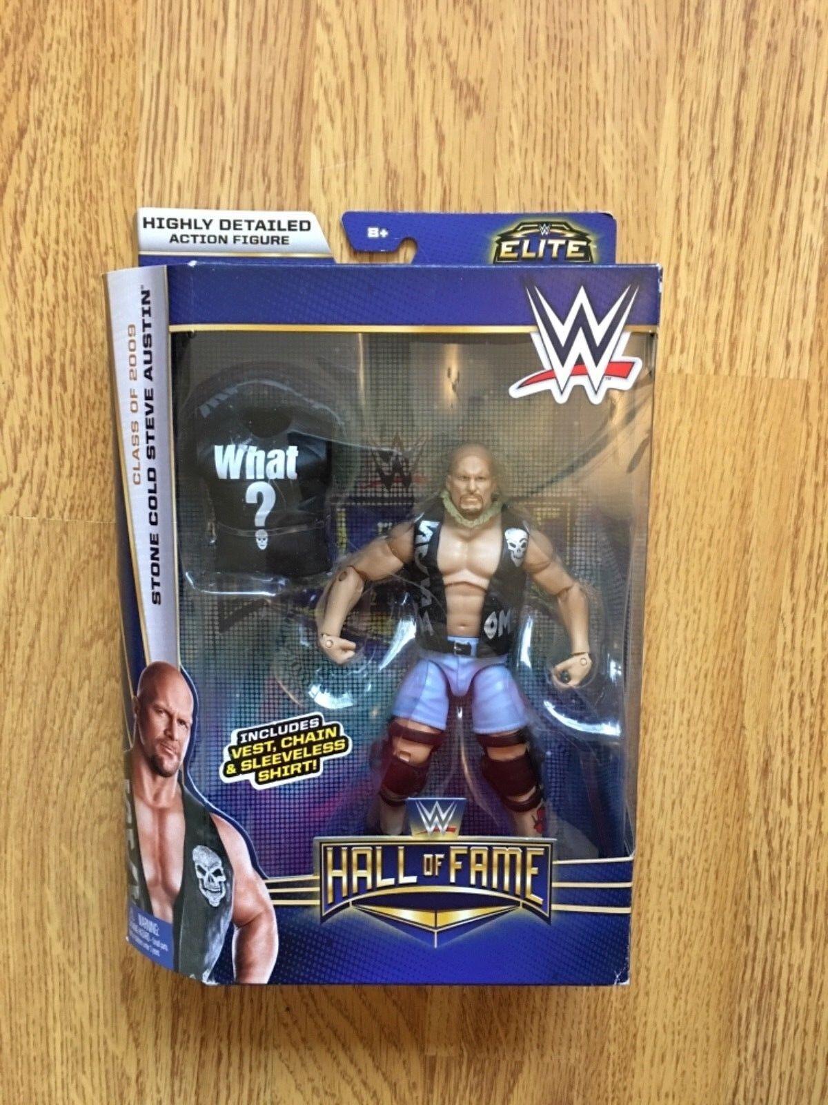 oferta especial Wwe Wwf Piedra Fría Steve Austin Salón De De De La Fama Hof Elite Mattel lucha libre figura  en stock