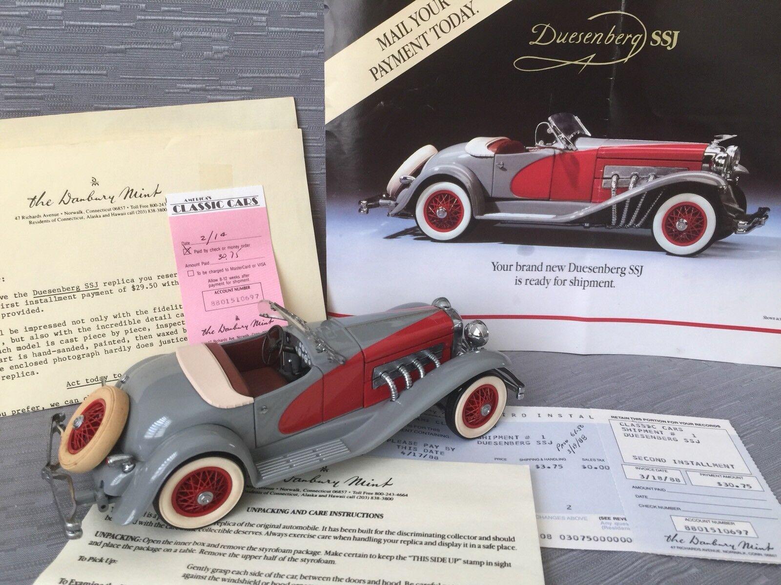 DANBURY Comme neuf 1935 Duesenberg SSJ 1 24 échelle DIE-CAST avec papiers