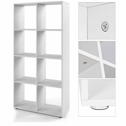 Raumtrenner Weiß 8 Fächer Bücherschrank Regalwand Kinderregal Holzregal Regal