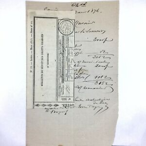 Authentic-1876-Depot-Charge-Receipt-Document-RARE-Paper-Old-Script-European