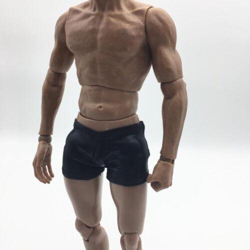 1//6 Scale Shorts Male Boxers Brief for 12/'/' Enterbay//TC//Dragon Figure Black