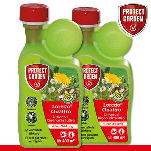 Protect-Garden-2x-400ml-Loredo-Quattro-Universal-Rasenunkrautfrei-Loewenzahn