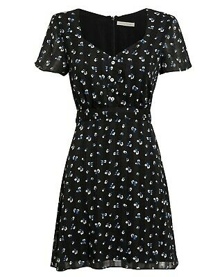 URBAN OUTFITTERS PINS /& NEEDLES FLORAL DRESS SIZE 8 10 12 14 XS S M L NEW BLACK