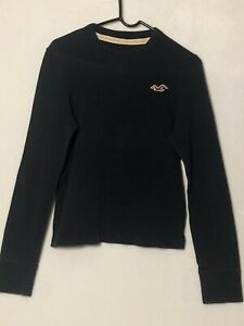 Details about Mens Hollister XS Long Sleeve Black Sweater
