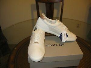Lacoste-Men-039-s-White-Jouer-Cam-Fashion-Sneaker-Shoes-Size-12-5