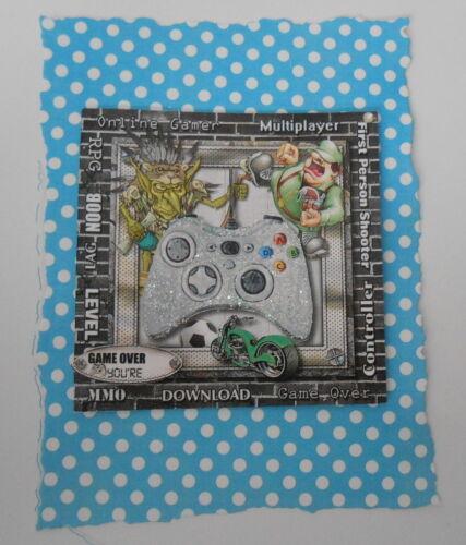 Pk 2 Online Gamer Game Over Topper embellissement pour cartes et artisanat