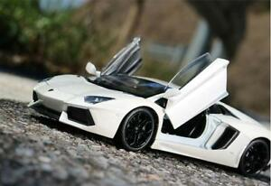 Welly-1-24-Lamborghini-Aventador-LP700-4-Diecast-Model-Racing-Car-Toy-White-NIB