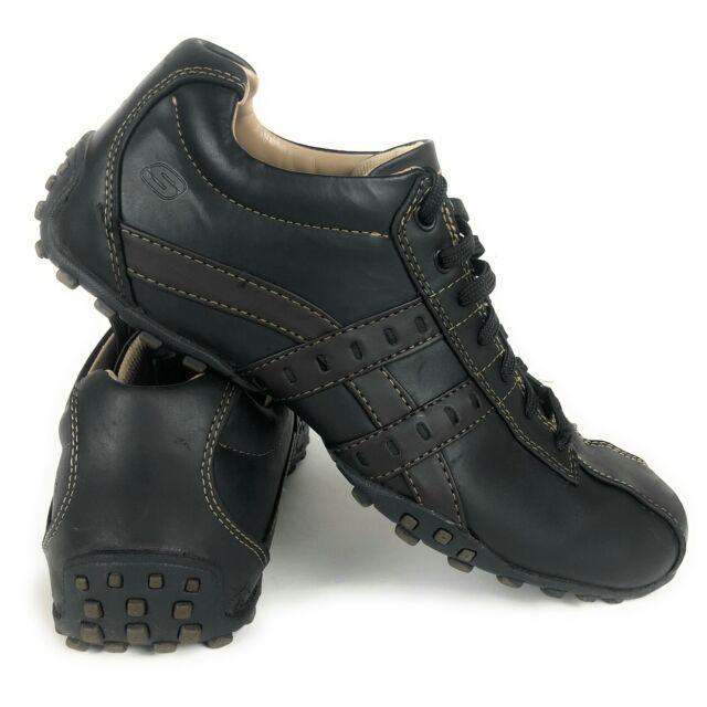 Skechers Citywalk Shoes Black Leather