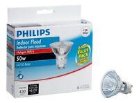 Philips 415760 Indoor Flood 50-watt Mr16 Gu10 Base 120-volt Light Bulb, 6-pack , on sale
