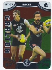 Details about 2019 AFL Teamcoach Battle Teams Card - Carlton - Backs