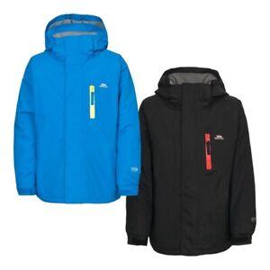 Trespass-Ainslie-Kids-School-Hooded-Rain-Coat-Boys-Waterproof-Padded-Jacket