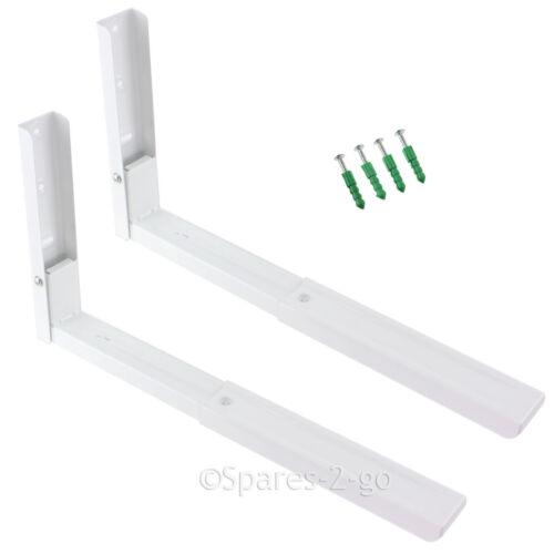 2 x delonghi four à micro-ondes blanc titulaire de montage mural parenthèses avec les bras extensible