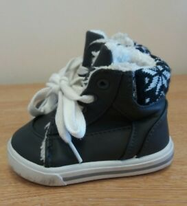 Baby Boys Trainers Size 3 Grey High Top