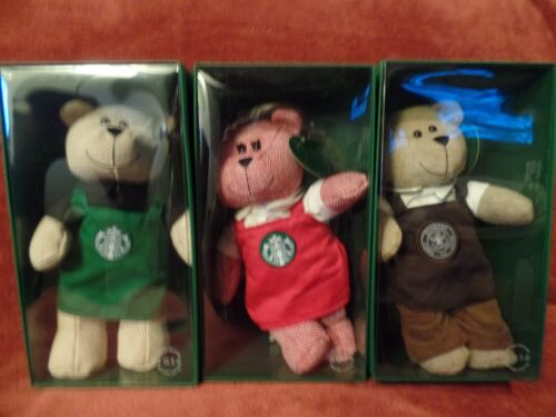 NWT 2016 Starbucks Bearista Collection - Limited Edition - Lot of 3