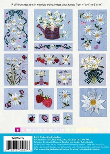Daisies Anita Goodesign Embroidery Machine Design CD 12MAGHD