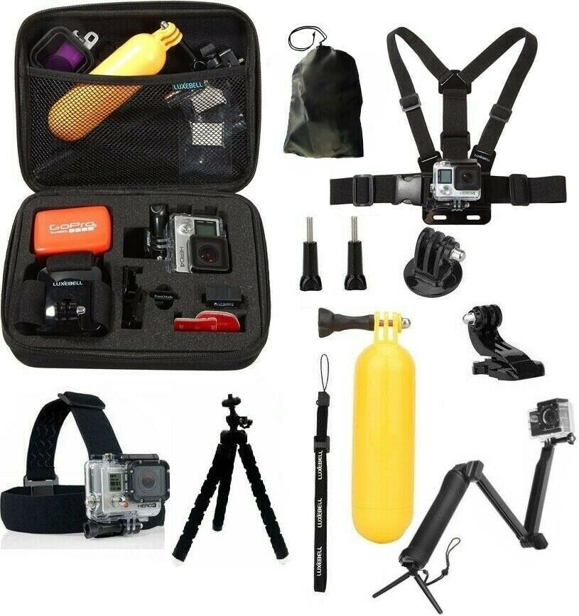 GoPro 60in1 Accessories Kit for Hero 5//4////3//2//1 Action Cameras 60 Attachments