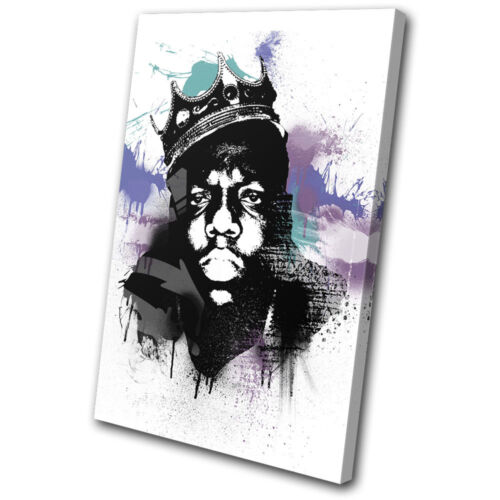 Musical Biggie Smalls Abstract SINGLE CANVAS WALL ART Picture Print VA