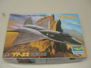 NEW-TRUMPETER-YF-23-US-AIR-FORCE-FIGHTER-JET-1-144-SCALE-MODEL-KIT