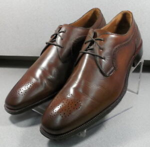 151760 PF50 Men's Shoes Size 10 M Brown Leather Lace Up Johnston & Murphy