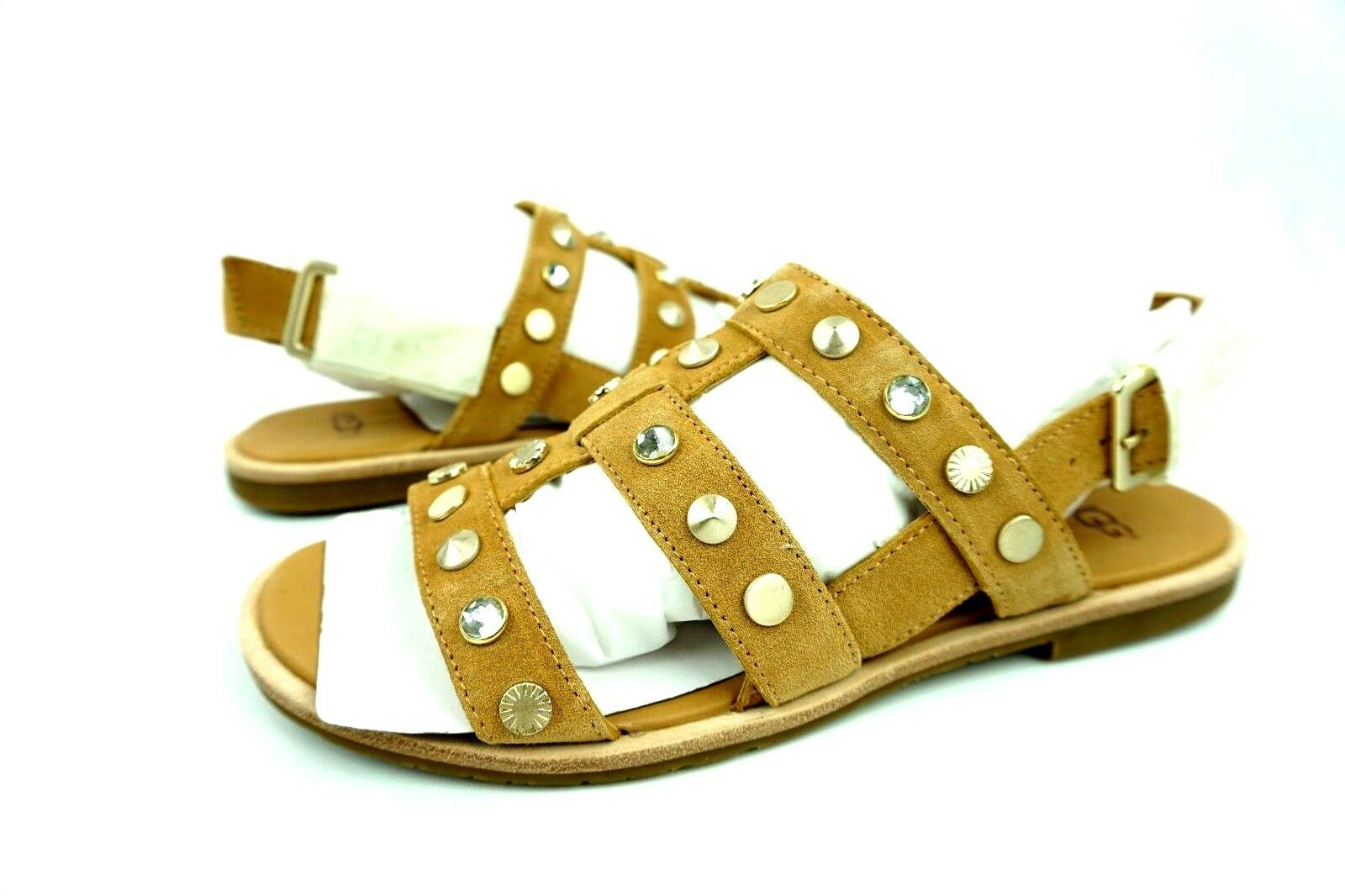 179c967dea22 UGG Zariah Studded Bling Latte Color Gladiator Sandals Size 7.5 US ...