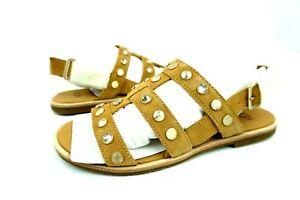 8f7d9734e Image is loading UGG-Zariah-Studded-Bling-Latte-Color-Gladiator-Sandals-