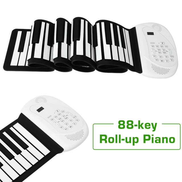 Portable 88 Keys Roll Up Piano Silicone USB Keyboard Sustain Pedal for Student