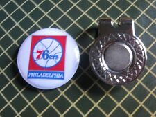 GOLF / Philadelphia 76ers Logo Golf Ball Marker/with Magnet Hat Clip New!!