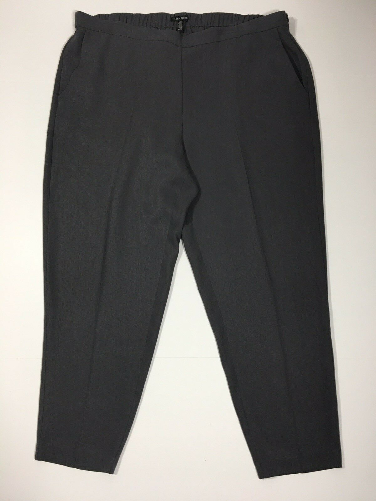 Eileen Fisher Tencel Größe élastique souple cheville Pantalon Größe XL