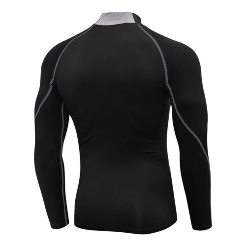 Men/'s Compression Shirt Mock Athletic Sports Base Layer Gym Long Sleeve Wicking