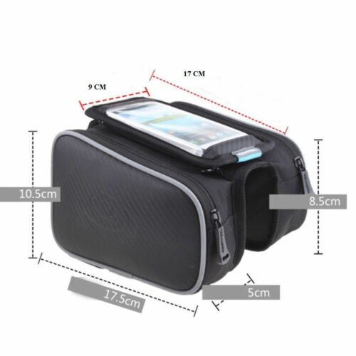 Cycling Bicycle Bike Frame Front Pannier bag Saddle Tube Bag Double Pouch Holder