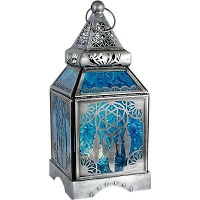 Dreamcatcher Metal and Glass Candle Lantern!