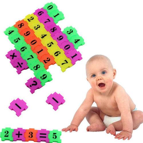 36 Pcs//Set Colorful Maths Puzzle Toy Baby Interesting Plastic Intelligence Toy