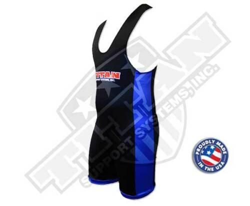 Titan Triumph Powerlifting Singlet - IPF Legal Black/Blue Raw Powerlifting