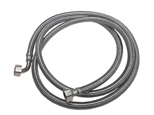 FLEXIBLE-METAL-STAINLESS-STEEL-BRAIDED-HOSE-3-4-034-X-3-4-034-2-5M-ICE-MACHINE-FEED