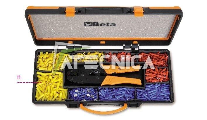 Pinza capicorda Beta Tools 1608/C9T kit casseta casseta casseta assortimento 450 pz  capicorda 612919