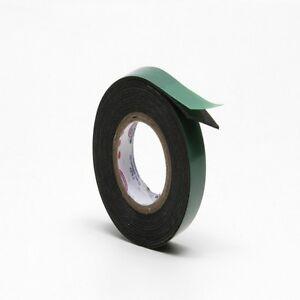 Nastro biadesivo in schiuma di PE acrilica colore nero per fissaggio 50 Metri